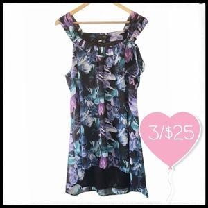 ⭐3/$25⭐ Floral Sleeveless Hi-Low Blouse